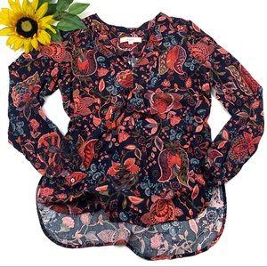 Ann Taylor loft shirt paisley Tunic Boho